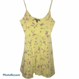 Forever 21 Yellow Floral Sundress Size Large